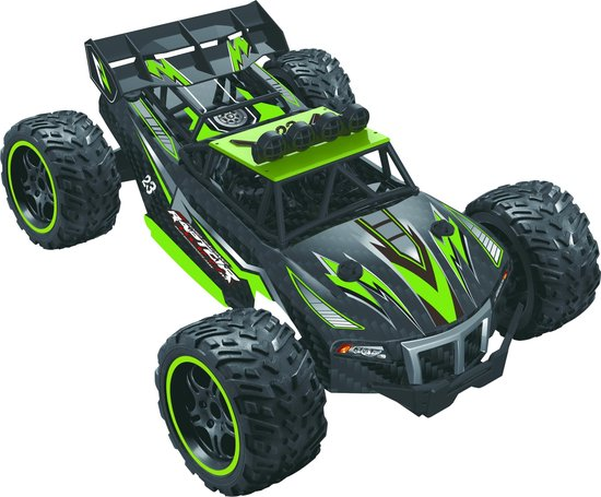 Wonky Cars Street Buggy - Bestuurbare RC Auto - 2,4 GHz Groen